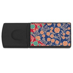 Floral Seamless Pattern Vector Texture Usb Flash Drive Rectangular (4 Gb)