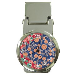 Floral Seamless Pattern Vector Texture Money Clip Watches by BangZart