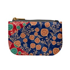 Floral Seamless Pattern Vector Texture Mini Coin Purses by BangZart