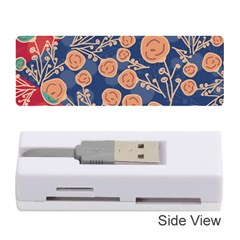 Floral Seamless Pattern Vector Texture Memory Card Reader (stick)