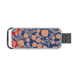 Floral Seamless Pattern Vector Texture Portable Usb Flash (one Side) by BangZart