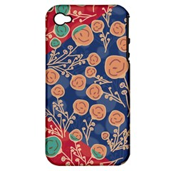 Floral Seamless Pattern Vector Texture Apple Iphone 4/4s Hardshell Case (pc+silicone) by BangZart