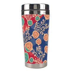 Floral Seamless Pattern Vector Texture Stainless Steel Travel Tumblers by BangZart