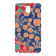 Floral Seamless Pattern Vector Texture Samsung Galaxy Note 3 N9005 Hardshell Back Case