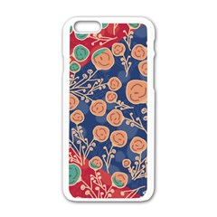 Floral Seamless Pattern Vector Texture Apple Iphone 6/6s White Enamel Case by BangZart