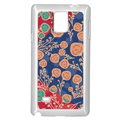 Floral Seamless Pattern Vector Texture Samsung Galaxy Note 4 Case (white)