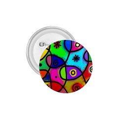 Digitally Painted Colourful Abstract Whimsical Shape Pattern 1 75  Buttons by BangZart