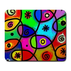 Digitally Painted Colourful Abstract Whimsical Shape Pattern Large Mousepads by BangZart