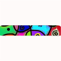 Digitally Painted Colourful Abstract Whimsical Shape Pattern Small Bar Mats