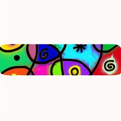 Digitally Painted Colourful Abstract Whimsical Shape Pattern Large Bar Mats by BangZart