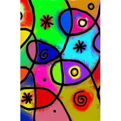 Digitally Painted Colourful Abstract Whimsical Shape Pattern 5 5  X 8 5  Notebooks by BangZart