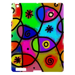 Digitally Painted Colourful Abstract Whimsical Shape Pattern Apple Ipad 3/4 Hardshell Case by BangZart