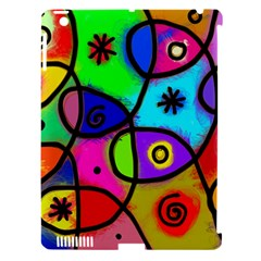 Digitally Painted Colourful Abstract Whimsical Shape Pattern Apple Ipad 3/4 Hardshell Case (compatible With Smart Cover) by BangZart