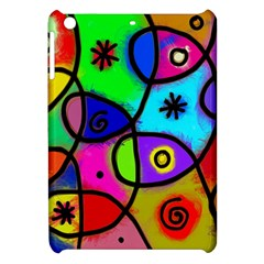Digitally Painted Colourful Abstract Whimsical Shape Pattern Apple Ipad Mini Hardshell Case by BangZart