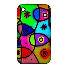 Digitally Painted Colourful Abstract Whimsical Shape Pattern Iphone 3s/3gs by BangZart