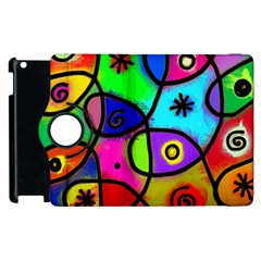Digitally Painted Colourful Abstract Whimsical Shape Pattern Apple Ipad 3/4 Flip 360 Case