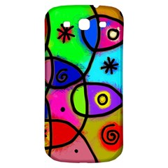 Digitally Painted Colourful Abstract Whimsical Shape Pattern Samsung Galaxy S3 S Iii Classic Hardshell Back Case by BangZart