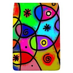 Digitally Painted Colourful Abstract Whimsical Shape Pattern Flap Covers (s)
