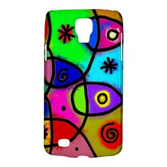 Digitally Painted Colourful Abstract Whimsical Shape Pattern Galaxy S4 Active by BangZart