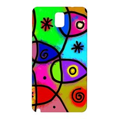 Digitally Painted Colourful Abstract Whimsical Shape Pattern Samsung Galaxy Note 3 N9005 Hardshell Back Case