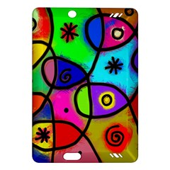 Digitally Painted Colourful Abstract Whimsical Shape Pattern Amazon Kindle Fire Hd (2013) Hardshell Case by BangZart