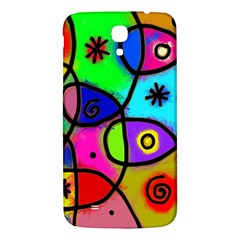 Digitally Painted Colourful Abstract Whimsical Shape Pattern Samsung Galaxy Mega I9200 Hardshell Back Case by BangZart