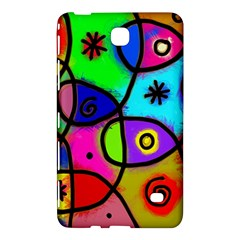 Digitally Painted Colourful Abstract Whimsical Shape Pattern Samsung Galaxy Tab 4 (8 ) Hardshell Case
