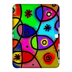 Digitally Painted Colourful Abstract Whimsical Shape Pattern Samsung Galaxy Tab 4 (10 1 ) Hardshell Case  by BangZart