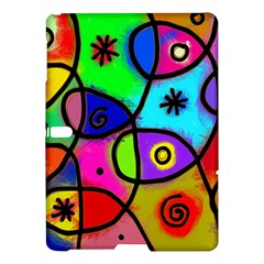 Digitally Painted Colourful Abstract Whimsical Shape Pattern Samsung Galaxy Tab S (10 5 ) Hardshell Case  by BangZart