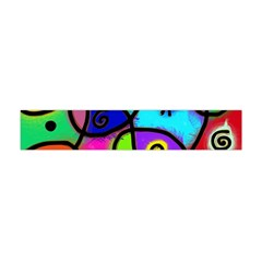 Digitally Painted Colourful Abstract Whimsical Shape Pattern Flano Scarf (mini) by BangZart