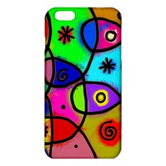 Digitally Painted Colourful Abstract Whimsical Shape Pattern Iphone 6 Plus/6s Plus Tpu Case by BangZart