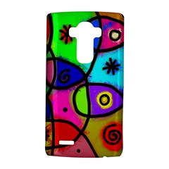 Digitally Painted Colourful Abstract Whimsical Shape Pattern Lg G4 Hardshell Case