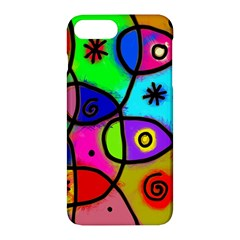 Digitally Painted Colourful Abstract Whimsical Shape Pattern Apple Iphone 7 Plus Hardshell Case by BangZart