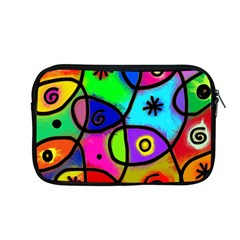 Digitally Painted Colourful Abstract Whimsical Shape Pattern Apple Macbook Pro 13  Zipper Case by BangZart