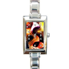 Colourful Abstract Background Design Rectangle Italian Charm Watch by BangZart