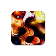 Colourful Abstract Background Design Rubber Square Coaster (4 Pack)  by BangZart