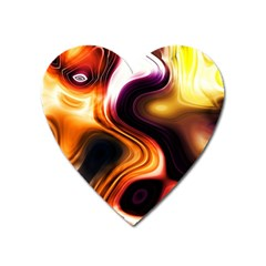 Colourful Abstract Background Design Heart Magnet by BangZart