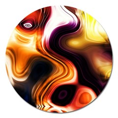 Colourful Abstract Background Design Magnet 5  (round) by BangZart
