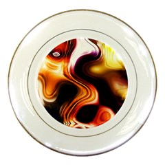 Colourful Abstract Background Design Porcelain Plates by BangZart