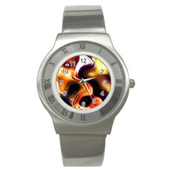 Colourful Abstract Background Design Stainless Steel Watch by BangZart