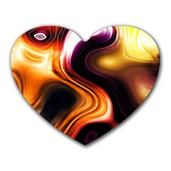 Colourful Abstract Background Design Heart Mousepads by BangZart