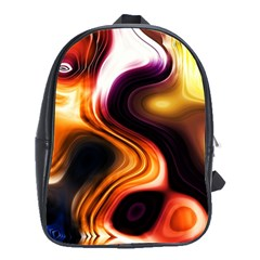 Colourful Abstract Background Design School Bags(large)  by BangZart