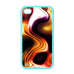 Colourful Abstract Background Design Apple Iphone 4 Case (color) by BangZart