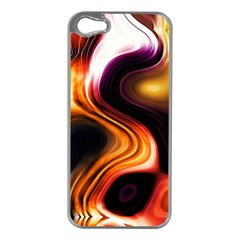 Colourful Abstract Background Design Apple Iphone 5 Case (silver) by BangZart