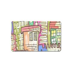 A Village Drawn In A Doodle Style Magnet (name Card) by BangZart