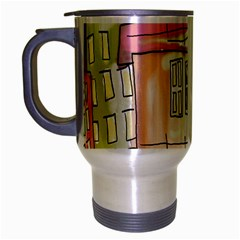 A Village Drawn In A Doodle Style Travel Mug (silver Gray)