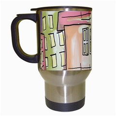 A Village Drawn In A Doodle Style Travel Mugs (white) by BangZart
