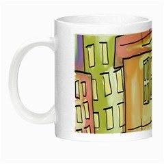 A Village Drawn In A Doodle Style Night Luminous Mugs by BangZart