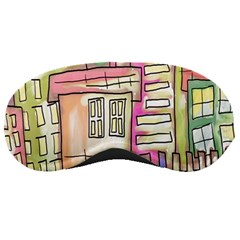 A Village Drawn In A Doodle Style Sleeping Masks by BangZart