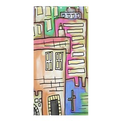 A Village Drawn In A Doodle Style Shower Curtain 36  X 72  (stall)  by BangZart
